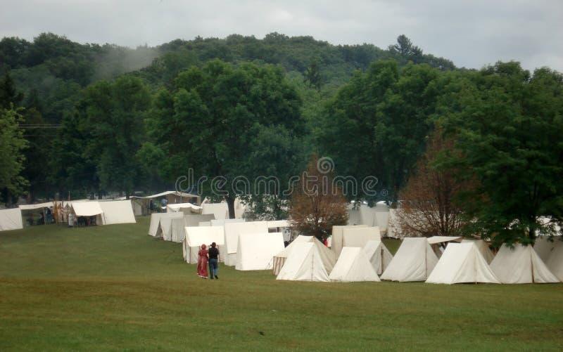 den borgerliga encampmenten kriger fotografering för bildbyråer