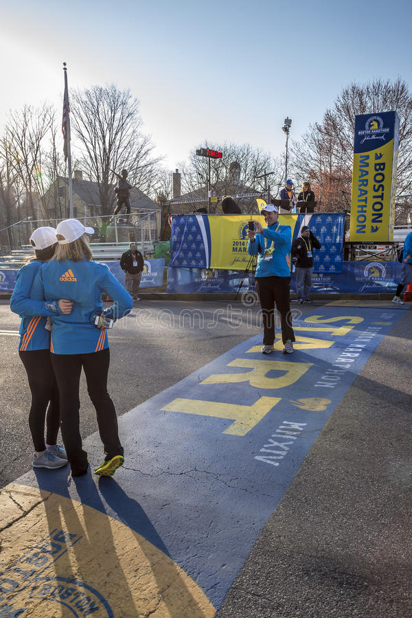 Den Boston maraton 2014 arkivbilder