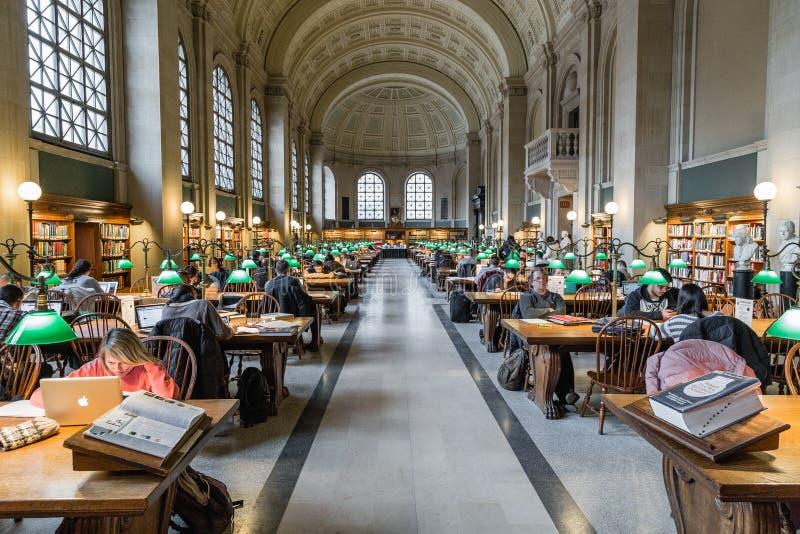 Den Boston offentligt bibliotek arkivbilder