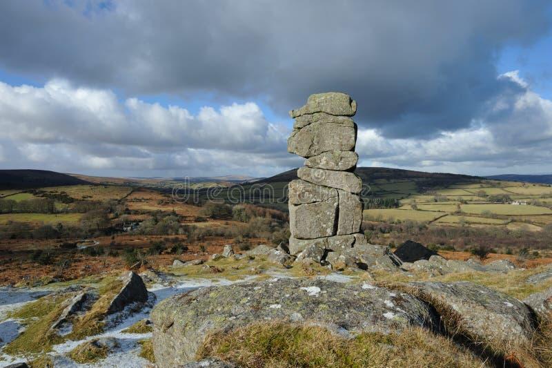 Den Bowermans näsan vaggar i Dartmoor arkivfoton