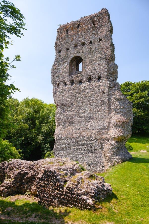 Den Bramber slotten återstår västra Sussex sydostliga England UK royaltyfri foto
