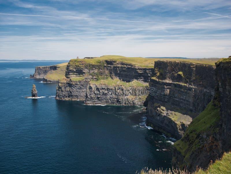 Den branta klippan i Irland från klippan av Moher royaltyfri fotografi