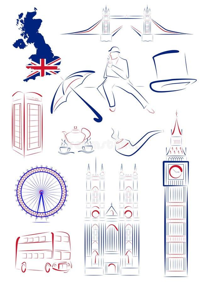 den britain storen synr symboler vektor illustrationer
