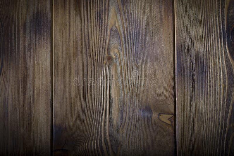 Den bruna gamla wood texturen med fnuren royaltyfri foto