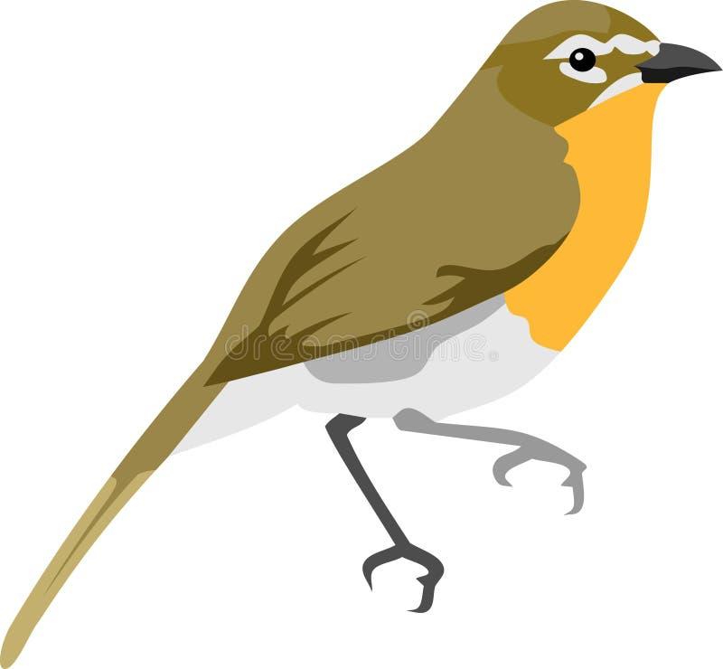 Den bruna orange fågeln royaltyfri illustrationer