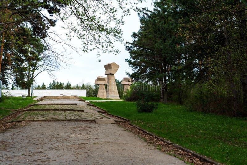 Den Bubanj minnesmärken parkerar i Nis, Serbien royaltyfri foto