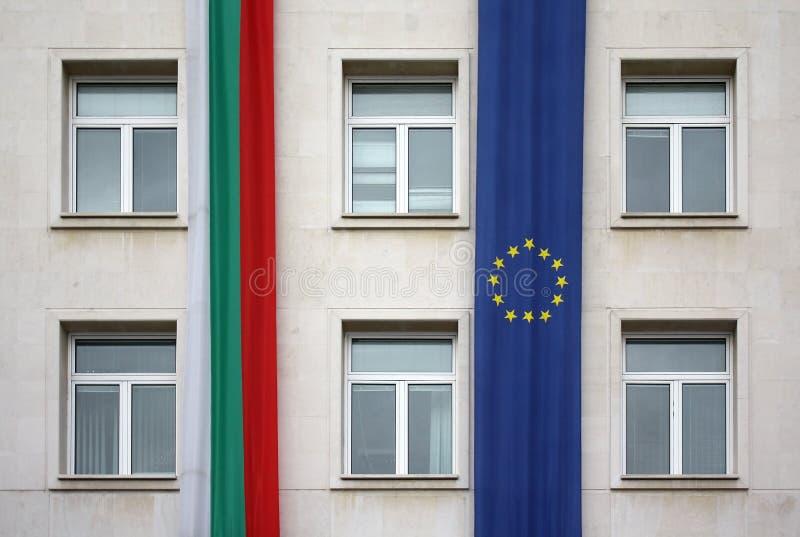 den bulgaria europeanen flags sofia union royaltyfria foton