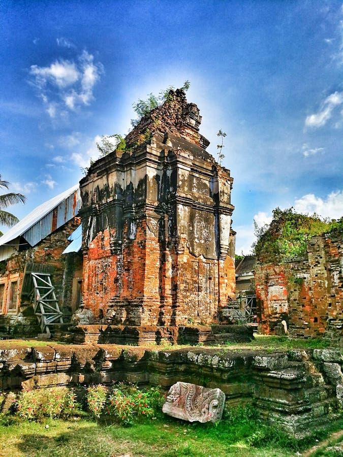 Den Cambodja templet på det Chiso berget spenderar vi omkring 2 timmar från Phnom Penh Cambodja royaltyfri fotografi