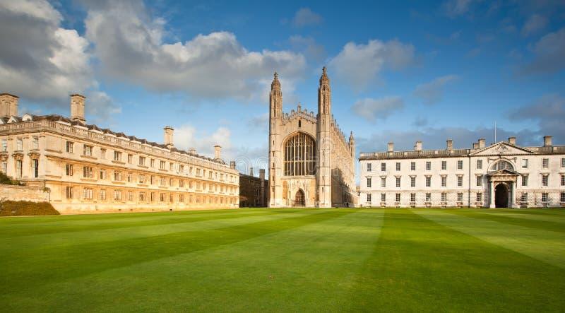 den cambridge högskolan görar till kung universitetar royaltyfria bilder