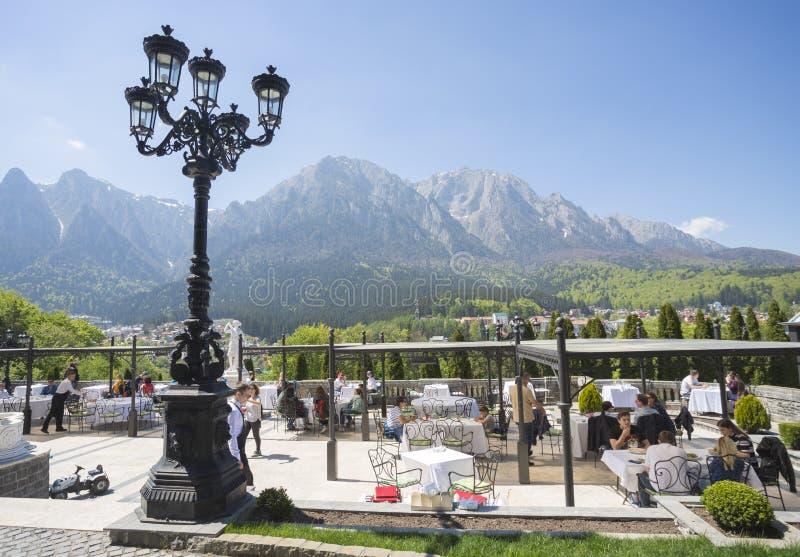 Den Cantacuzino slotten i Rumänien arkivbilder