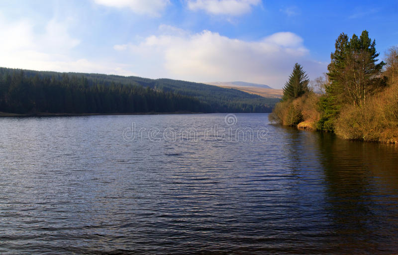 Den Cantref behållaren, Nant-ddu, Brecon leder nationalparken royaltyfria foton