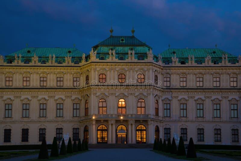Den centrala delen av Belvedereslotten, Wien royaltyfri fotografi