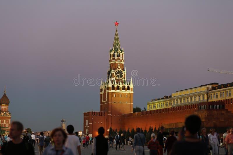 Den centrala fyrkanten av Moskva royaltyfri fotografi