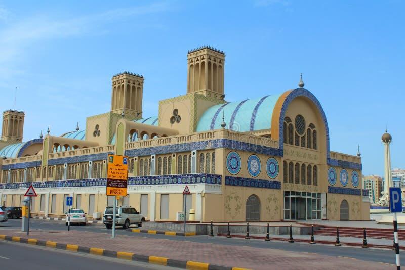Den centrala Souqen i Sharjah, Förenade Arabemiraten royaltyfria bilder