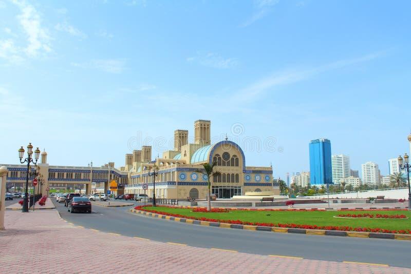 Den centrala Souqen i Sharjah, Förenade Arabemiraten royaltyfria foton