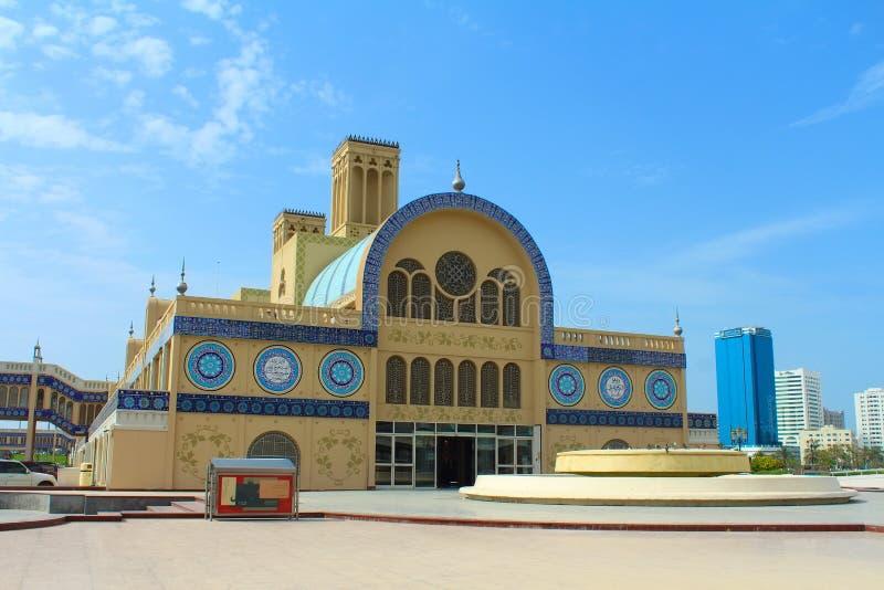 Den centrala Souqen i Sharjah, Förenade Arabemiraten arkivfoton