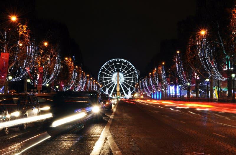 Den Champs-Elysees avenyn royaltyfria foton