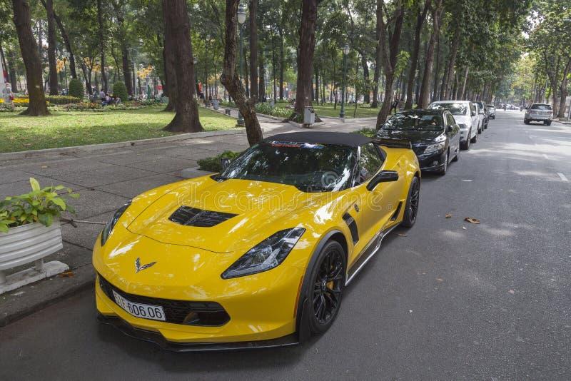 Den Chevrolet Corvette bilen royaltyfria foton