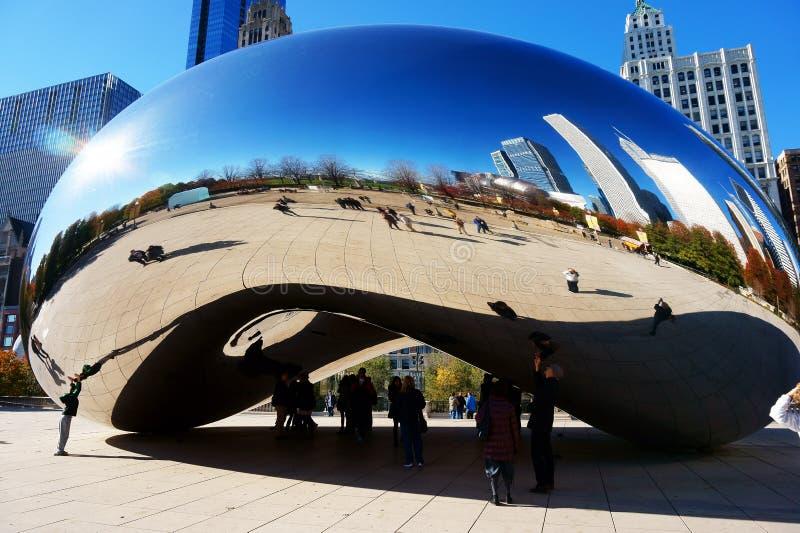 Den Chicago bönan, USA royaltyfri fotografi