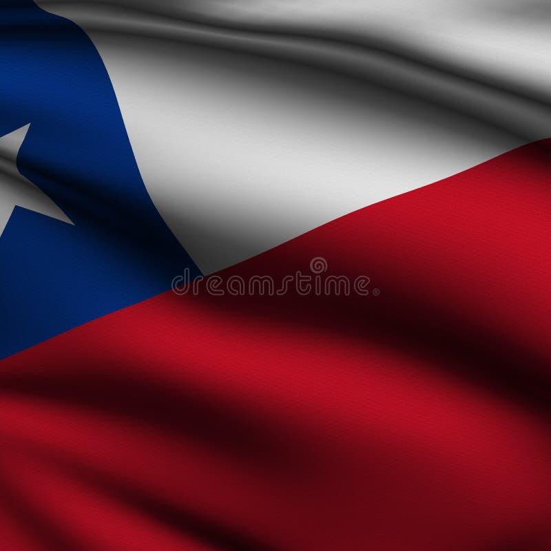 den chilenska flaggan framförde fyrkanten stock illustrationer