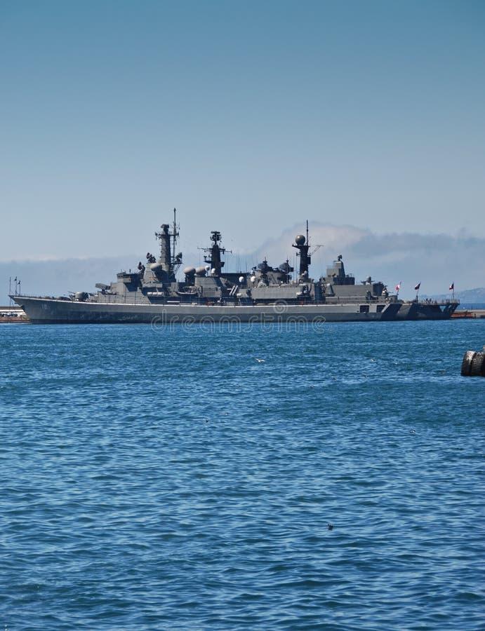 Den chilenska striden kriger shipen fotografering för bildbyråer