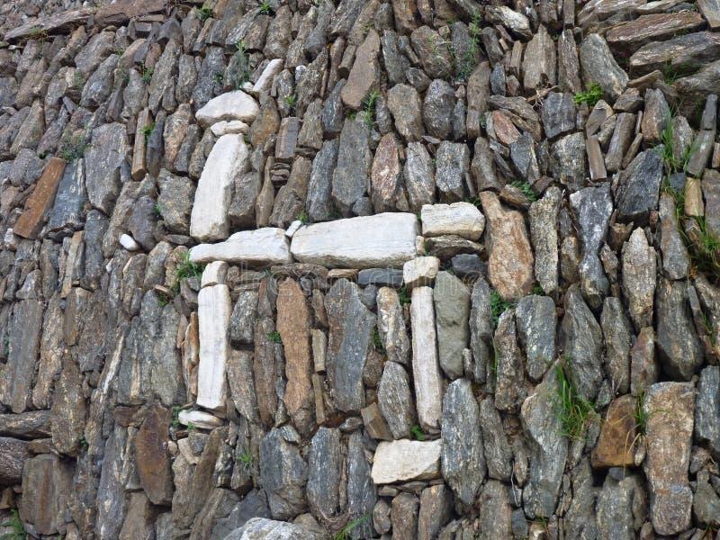 Den Choquequirao inkaen fördärvar i peruansk bergdjungel arkivbild