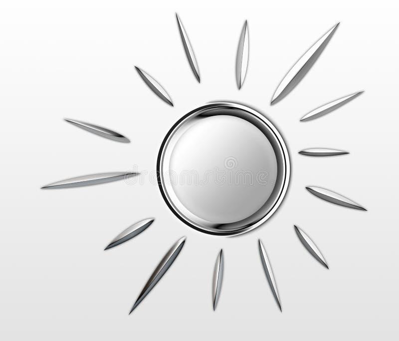 Den Chrome solen är glänsande royaltyfria foton