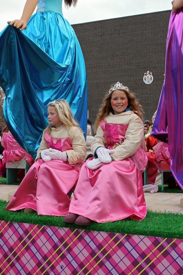 den claus disney floaten ståtar princesses santa toronto arkivbilder