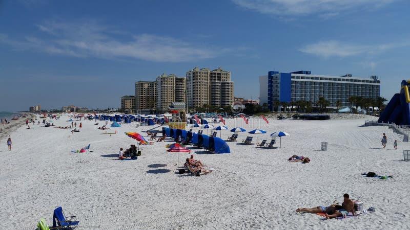 Den Clearwater stranden, röstade precis den 1 stranden i Amerika arkivbilder