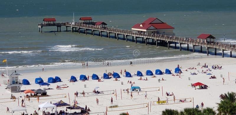 Den Clearwater stranden, röstade precis den 1 stranden i Amerika royaltyfri fotografi