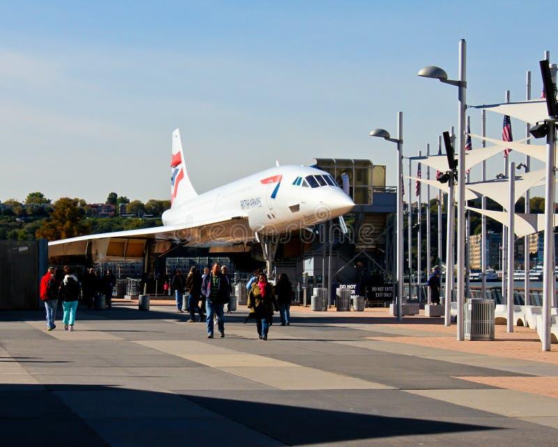 Den Concorde strålen på det Intrepid museet. royaltyfri foto