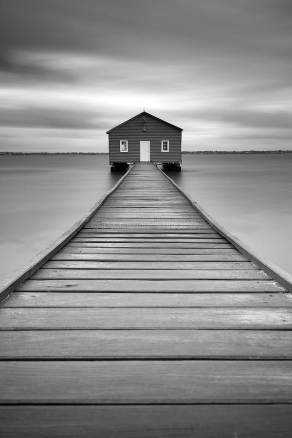 Den Crawley kanten Boatshed i Perth, västra Australien arkivfoto