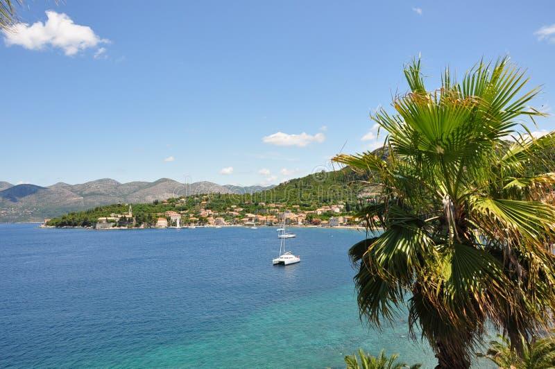 den croatia ön landscapes lopud royaltyfri bild