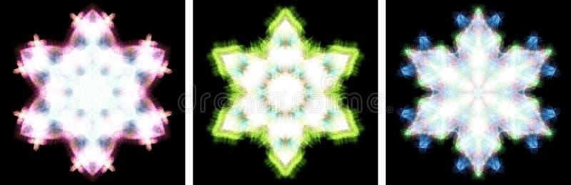 den crystal designkaleidoscopen like snow vektor illustrationer