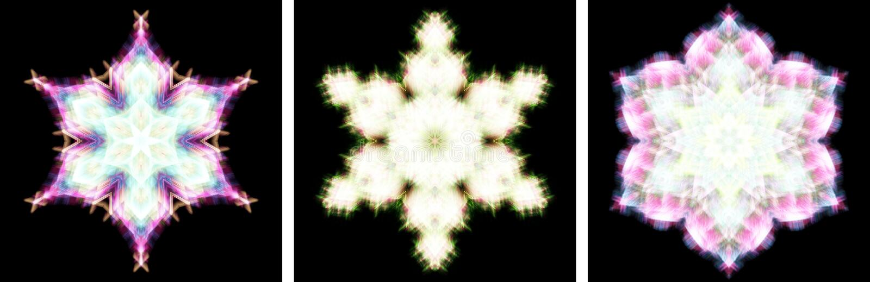 den crystal designkaleidoscopen like snow royaltyfri illustrationer