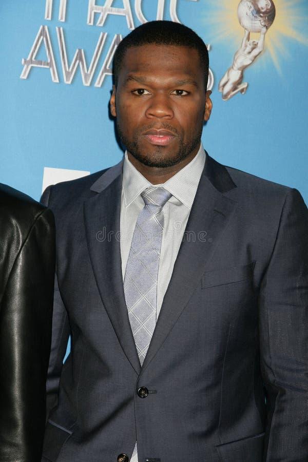 """Den Curtis """"50 cent"""" Jackson på den 42nd NAACP-bilden tilldelar utnämningmeddelandet, den Paley mitten för massmedia, Beverly Hill arkivfoto"""