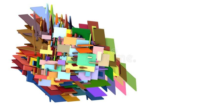 Den splittrade multipeln färgar abstrakt kor formar stock illustrationer