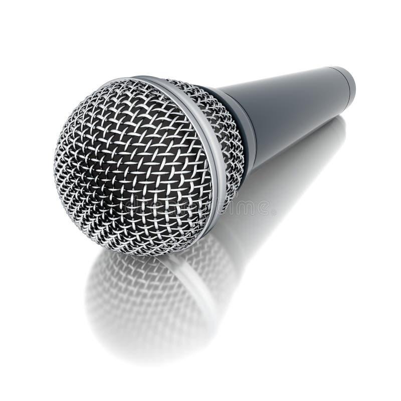 mikrofon 3d vektor illustrationer