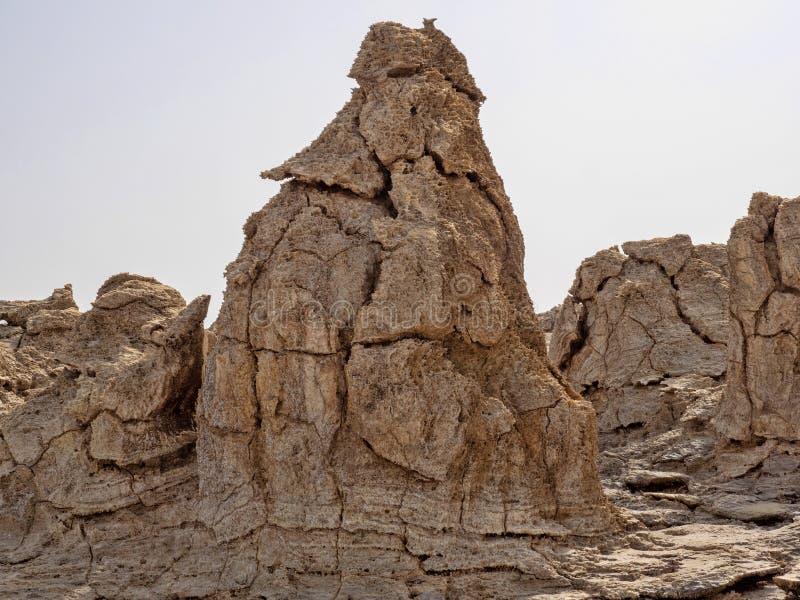 Den Danakil fördjupningen ser som ett landskap på en annan planet ethiopia royaltyfria foton