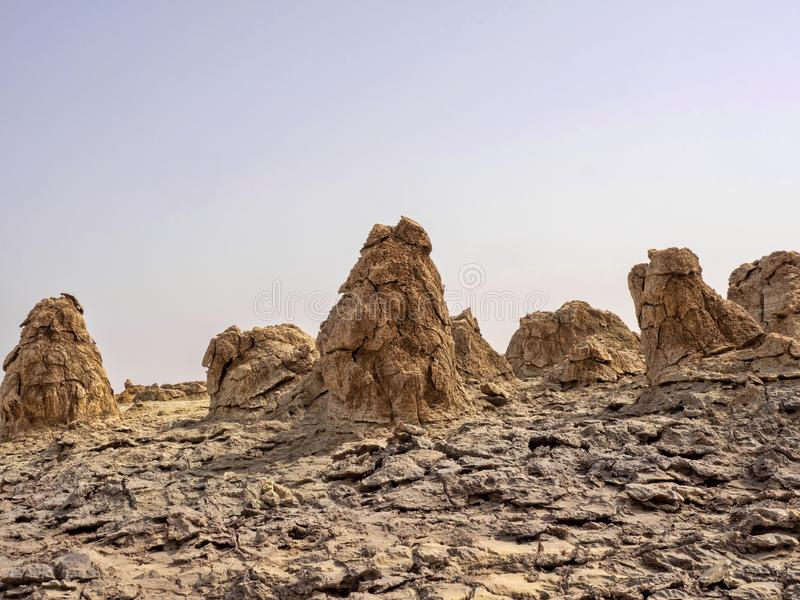 Den Danakil fördjupningen ser som ett landskap på en annan planet ethiopia fotografering för bildbyråer