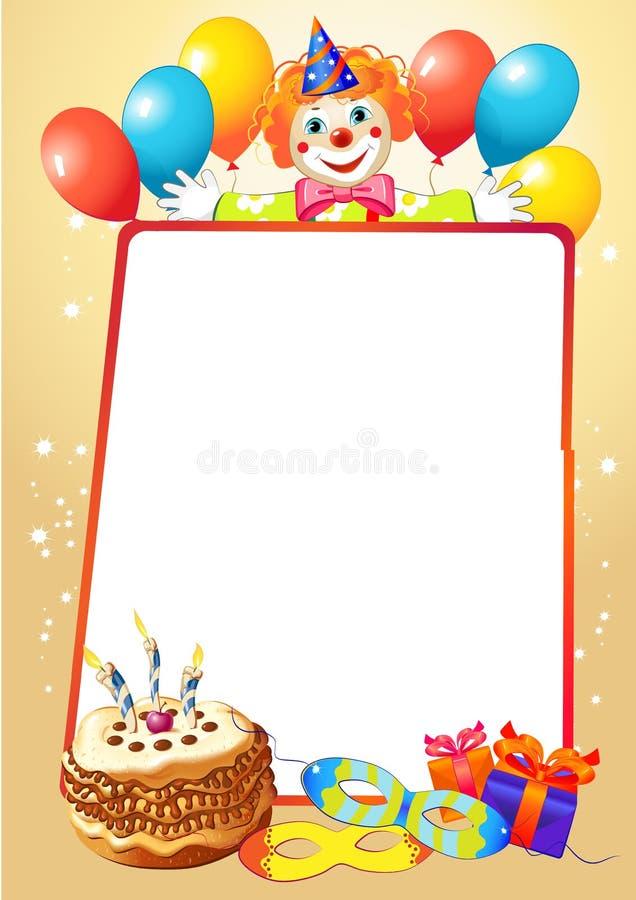 Den dekorativa födelsedagen gränsar vektor illustrationer