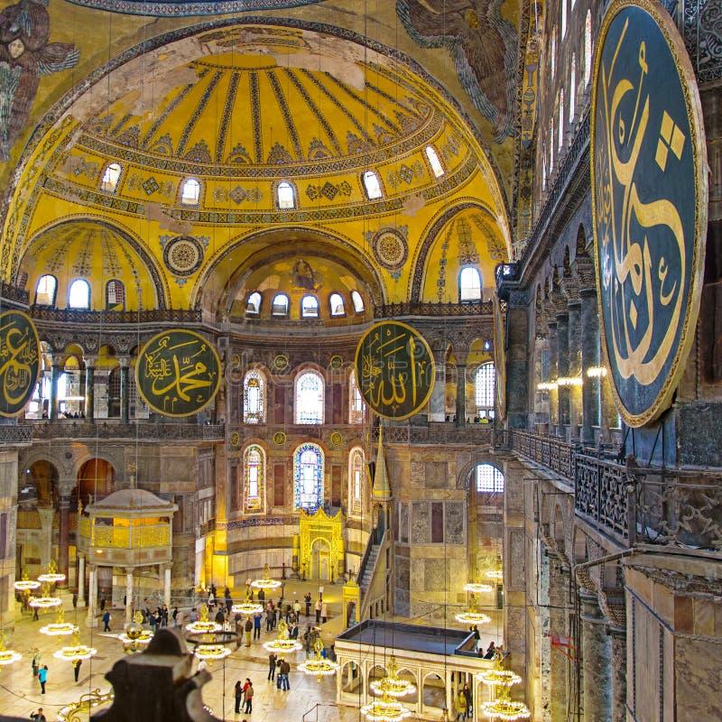 Hagia Sofia inre 17 fotografering för bildbyråer