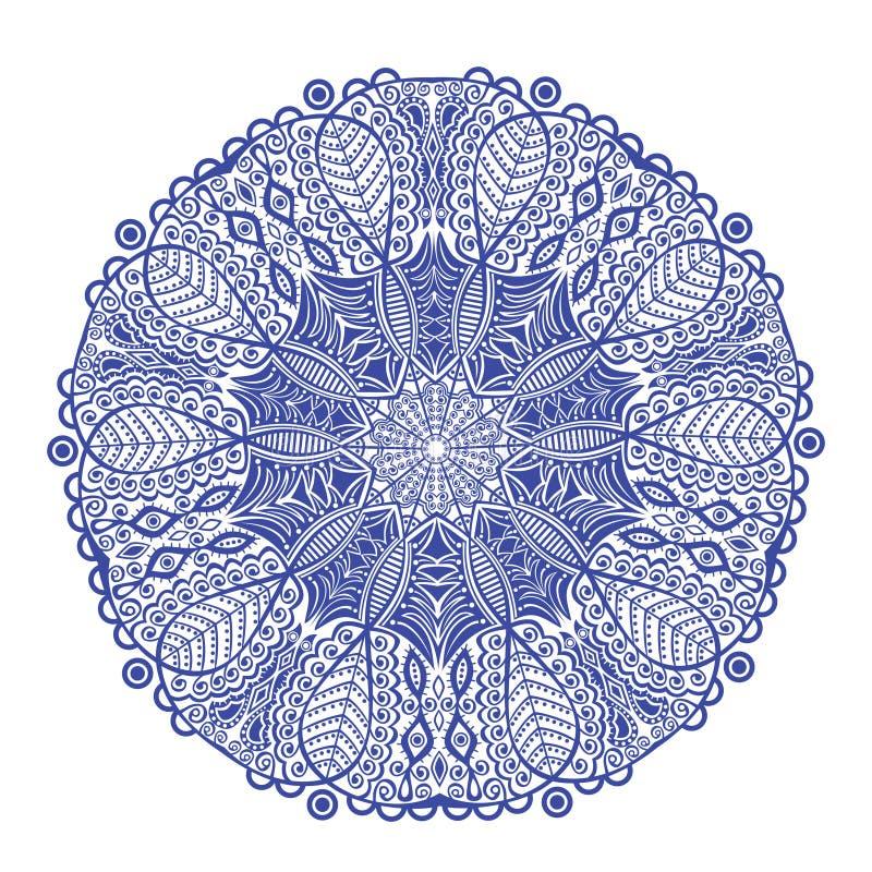 Den dekorativa rundan snör åt modellen vektor illustrationer