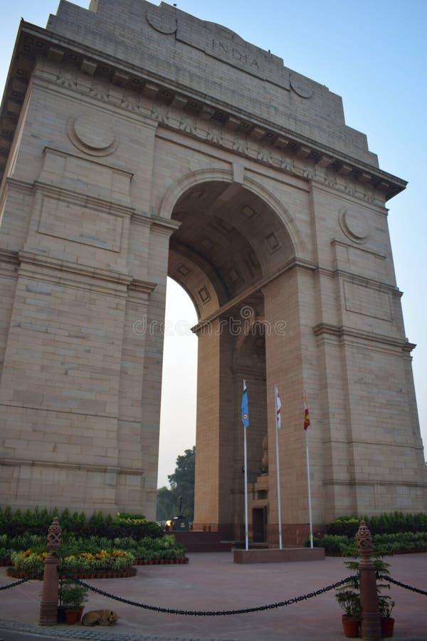 Den Delhi porten i mitten av staden royaltyfria bilder