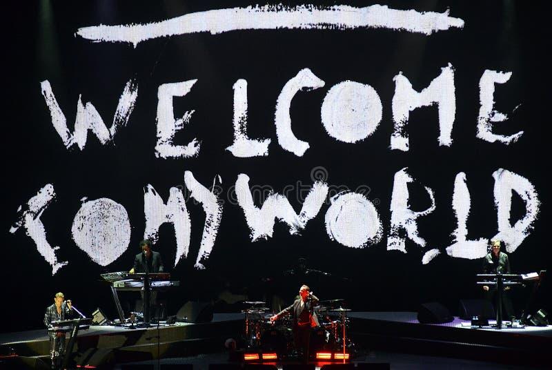 Den Depeche Mode deltamaskinen turnerar royaltyfri fotografi