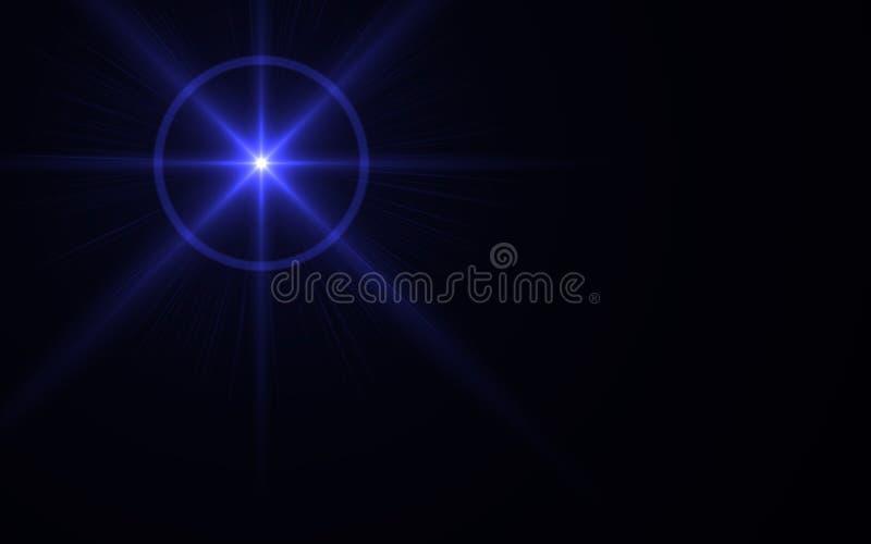 Den Digital linssignalljuset, linssignalljuset, ljus läcker vektor illustrationer