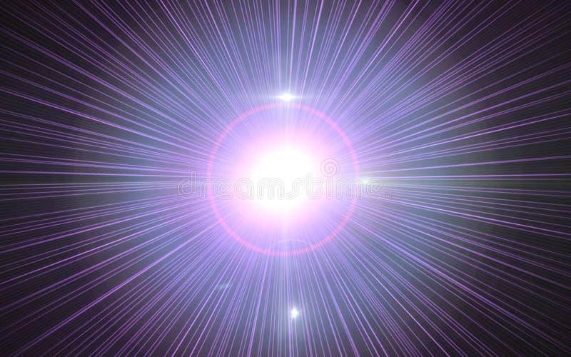 Den Digital linssignalljuset, linssignalljuset, ljusläckor, abstrakt begrepp överdrar bakgrund Abstrakt bild av belysning vektor illustrationer