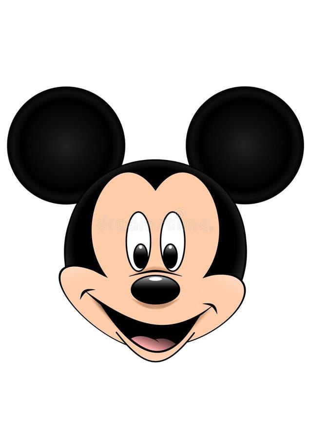 Den Disney vektorillustrationen av Mickey Mouse isolerade på vit bakgrund vektor illustrationer