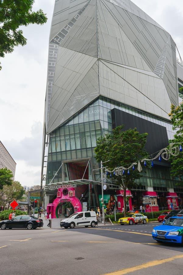 Den djärva ultra-moderna arkitekturen av fruktträdgårdcentralen, Singapor royaltyfria bilder