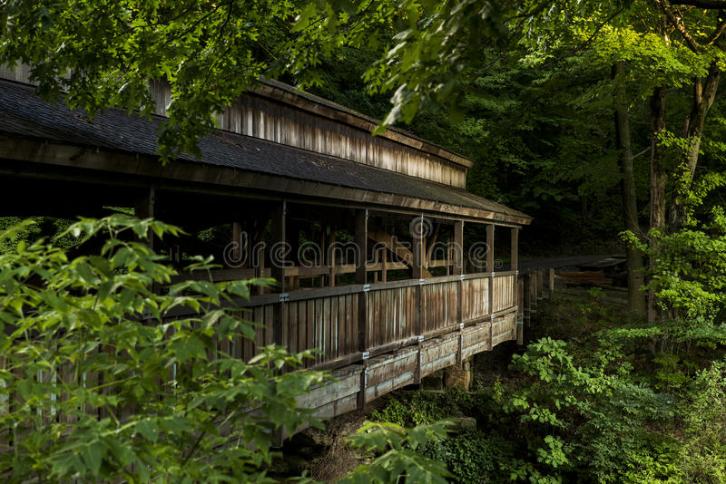 Den dolda bron - mala liten vik parkerar, Youngstown, Ohio arkivbild